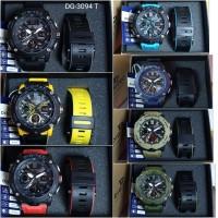 Digitec DG-3094T Jam Tangan Pria Dual Time Original Rubber Bonus Tali