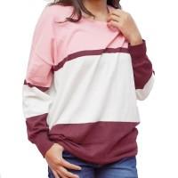 Baju Wanita Sweater pink rajutan murah