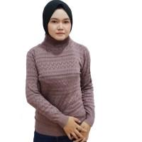 baju wanita sweater murah cardigan rajutan turtleneck outwear muslim