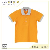 Baju Polo Anak / I am Cotton Polo Shirt Gold Fushion