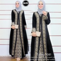 NEW TURKEY 1081 GAMIS LONGDRESS ABAYA WANITA MODERN KONDANGAN PESTA