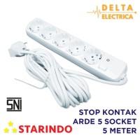 Starindo Stop Kontak 5 Meter 5 Power Socket