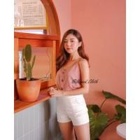 Lyla Button Camisole M - XL Tanktop kancing Baju dalaman Atasan Wanita