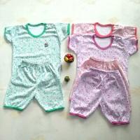 stelan baju bayi little Q/setelan kaos bayi/baju bayi adem - Size M