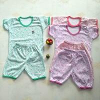setelan baju bayi little Q/stelan kaos baju bayi ad lembut - size L