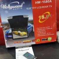 Roof Tv plafon mobil 16inch merk Hollywood seri HW-1580 A