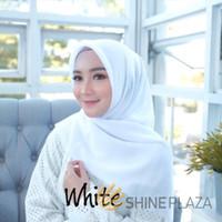 Bella Square Hijab Segiempat White - Jilbab Segiempat