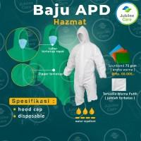 Baju APD/Hazmat Suit 75GSM - Water Repellent - Disposable