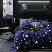 PromoSarung Bed Cover Warna Biru Motif Bintang untuk Dewasa