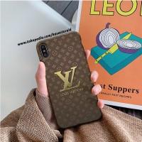 LV Gold Casing iphone xs 11 8 7 plus pro max case