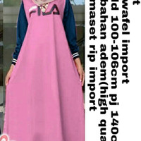 baju gamis wanita Maxi fila dusty dres baju muslim