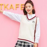 INFINITE Autumn Vest Korean Style Sleeveless V-neck Women Knit Tank