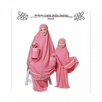 Eflinamall Pakaian Muslim Mukena Couple Kembar Ibu Anak Bayi Batita