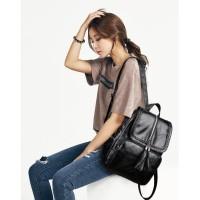 BP43 Tas Ransel Wanita Kulit PU Korea Summer Youth Women Backpack
