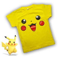 Baju Pokemon Anak Kaos Pikachu Atasan Bayi Warna Merah 2 3 4 5 Tahun