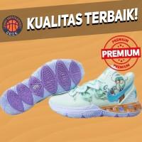 Sepatu Basket Sneakers Nike Kyrie 5 Squidward Custom Green Purple Pria