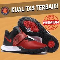 Sepatu Basket Sneakers Nike Kyrie Flytrap 3 Bred Black Red White Pria