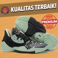 Sepatu Basket Sneakers Adidas Harden 4 Glow Green Black Pria Wanita