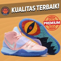 Sepatu Basket Sneakers Nike Kyrie 6 Concepts Khepri Pink Blue Pria