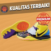 Sepatu Basket Sneakers Nike Kyrie 6 CNY Yellow Black Blue Pria Wanita