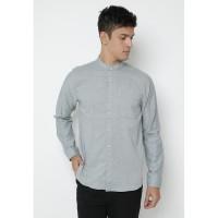 Kemeja Pria Ryusei Shirt Men Sachiye Light Grey