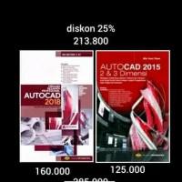 buku paket murah Autocad 2018 dan 2015