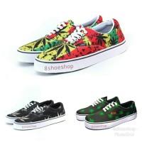 sepatu vans authentic era motif rasta reggae sneaker casual keren