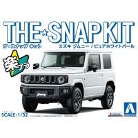 Aoshima 05817 1/32 SNAP KIT Suzuki Jimny (Pure White Pearl)