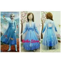 Kostum Frozen 2 Elsa II Dua Dress Baju Anak Putri Princess Sayap Biru