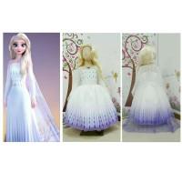 Kostum Frozen 2 Elsa II Dua Putih Ungu Dress Baju Anak Putri Princess