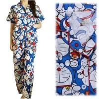 Baju tidur wanita/Cewek. Piyama Karakter Doraemon Pintu CP