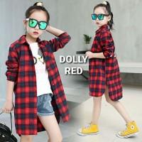 BAJUKIDDIE DOLLY TOP RED baju anak perempuan kemeja panjang atasan