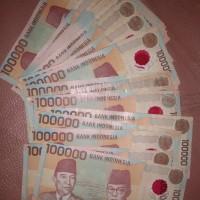 uang kuno 100000 tahun 1999 okee