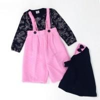 Baju Muslim Anak Perempuan Model Kulot Overall 810032