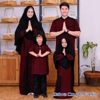 couple Gamis Zalwa set keluarga /Seragam Baju Muslim murah Free hijab