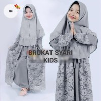 Gamis Maxi Syari Anak Baju Muslim Gamis Syari Brukat Bonus Bergo BL