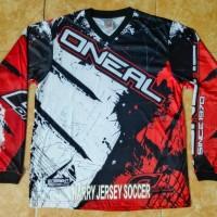 Jersey mtb oneal merah / jersey sepeda / baju sepeda