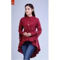 Baju Atasan Wanita Tunik Bahan Katun Size M-XL warna merah Termurah