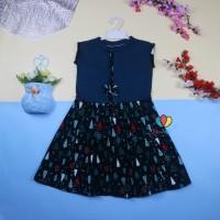 Dress Lala uk 7-8 Tahun Dress Anak Perempuan Cewek Baju Dres Batik Mu