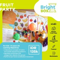 Mainan Sensori - FRUIT PARTY - Flashcards Pretend Play 1-6 thn
