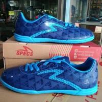 Promo Sepatu futsal specs murah Quark Galaxy blue original Diskon