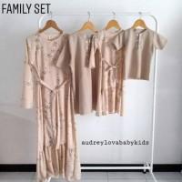 Gamis Muslim Family Set Baju Couple Keluarga Baju Lebaran Sarimbit