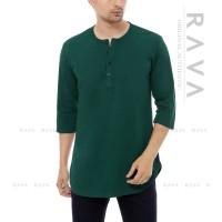 Baju Kaos Pria Henley Longline Big Oversized Polos RAVA (BEST SELLER)