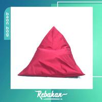 [Luar Kota] Rebahan Bean Bag Triangle + Isi. Ukuran M, Premium Taslan.