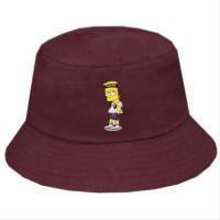 Topi Bucket Hat Premium Desain Bart Simpson simson kartun