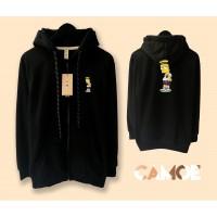 Jaket Hoodie Zipper Premium Bart Simpson simson kartun