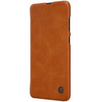 Hard Case SAMSUNG Galaxy A70 Flip Cover Leather Hardcase Original - Cokelat