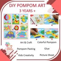 JOY SMART TOYS DIY POMPOM ART AND CRAFT MAINAN EDUKASI ANAK 3 TAHUN - Jamur