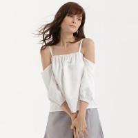 Cloth Inc Sabrina Off Shoulder Top - Putih