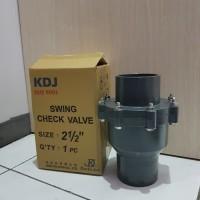 Swing Checkvalve Check valve PVC KDJ 2 1/2 inch 2.5inch Tusen Klep